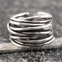 Silberring Silber 925 Ring  Verstellbar Offen R0826